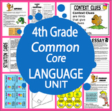 4th Grade LANGUAGE Unit (17 Grammar Lessons, 4 Games, 17 FULL COLOR Posters)