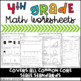 Fourth Grade Common Core Math Assessments and Worksheets Bundle
