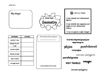 Fourth Grade Common Core Math Entry Tasks