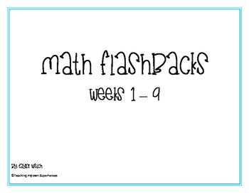 Fourth Grade Common Core Math Flashbacks Weeks 1 - 33 (All Year)