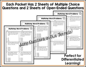 Fourth Grade Common Core Math OA Bundle - 7 Packets!