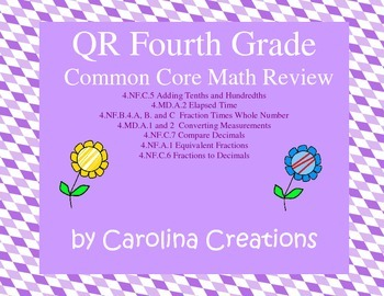 QR Code Fourth Grade Common Core Math Scavenger Hunt Review 3