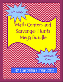 Fourth Grade Common Core Math Scavenger Hunt and Math Center Mega Bundle