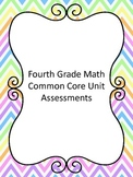 Fourth Grade Common Core Math Standards Assessments Bundle