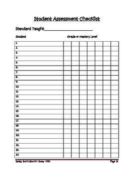 Fourth Grade Common Core Math Standards Checklist