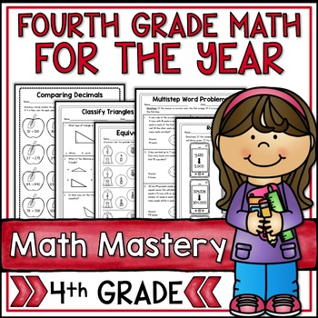 Fourth Grade Math Mastery Super Bundle for the Year - 43 Packets!