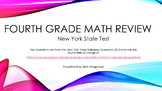 Fourth Grade Common Core Math Test Review with NY State Released Questions 2013