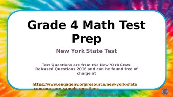 Fourth Grade Common Core Math Test Review with NY State Released Questions 2016