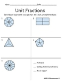 Fourth Grade Common Core Math: Unit Fractions Assessment (
