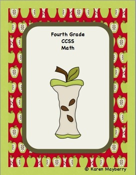 Fourth Grade Common Core Planning Template and Organizer for Math