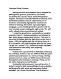 Fourth Grade Common Core Spelling Dictation
