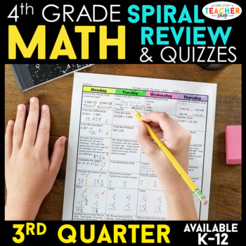 4th Grade Math Review   Homework or Morning Work   3rd Quarter