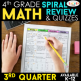 4th Grade Math Review | Homework or Morning Work | 3rd Quarter