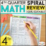 4th Grade Math Review | Homework or Morning Work | 4th Quarter