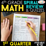 4th Grade Math Review | Homework or Morning Work | 1st Quarter
