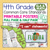 Common Core Standards I Can Statements for 4th Grade - Flo