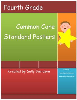 Fourth Grade Common Core Standard Posters - Kid Friendly! - 109 Pages!
