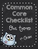 Fourth Grade Common Core Standards Checklist-OWLS!