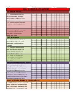 Fourth Grade Common Core Standards Excel Spreadsheet (Gradebook)