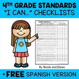 Fourth Grade Common Core Standards I Can Checklists 1