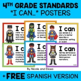 Fourth Grade Common Core Standards I Can Posters