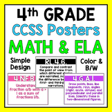 Fourth Grade Common Core Standards Posters