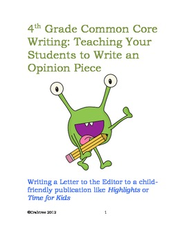 Lesson 6: Modeled Writing – Improving an Opinion Piece