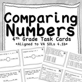 Fourth Grade Comparing Task Cards
