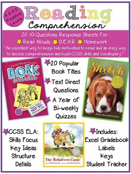 Reading Comprehension of the Week! 4.0-4.9, A Year of Weekly Quizzes!