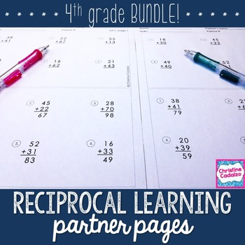 Fourth Grade Computation Practice Partner Pages- BUNDLE