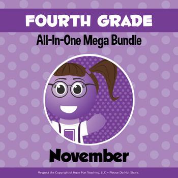 Fourth Grade Curriculum Bundle (NOVEMBER)