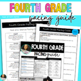 Fourth Grade Year Long Pacing Guide w/Monthly Calendar and BONUS SEL Guide