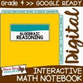 Fourth Grade DIGITAL Math Interactive Notebook: Algebraic Reasoning {TEKS 4.5}