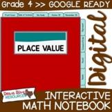 Fourth Grade DIGITAL Math Interactive Notebook: Decimal Pl