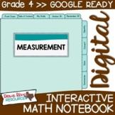 Fourth Grade DIGITAL Math Interactive Notebook: Measurement  {TEKS 4.8}