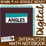 Fourth Grade DIGITAL Math Interactive Notebook: Measuring