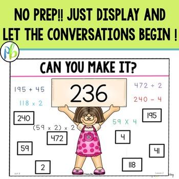 Fourth Grade DIGITAL Number Talks (FREE 5 Day Sample)