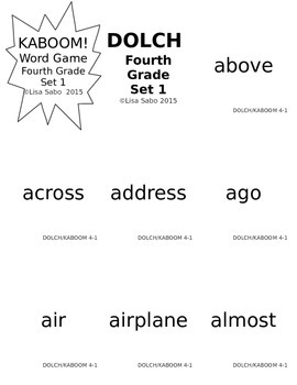 Fourth Grade DOLCH Words Practice and Games