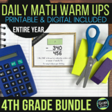 Fourth Grade Daily Math Warm-Ups: YEAR-LONG BUNDLE   Googl
