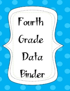 Fourth Grade Data Binder Label