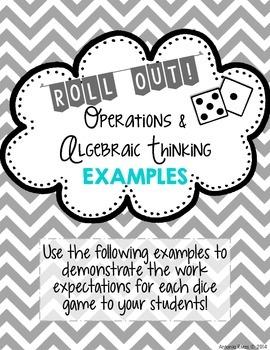 Fourth Grade Dice Games {ALL Common Core Math Standards}