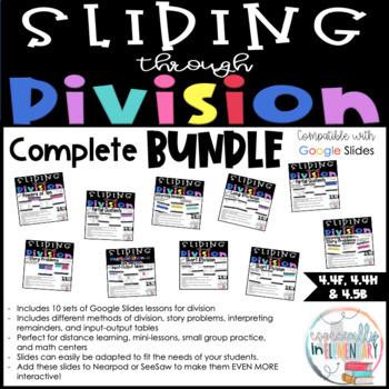Fourth Grade Digital Division Slides - COMPLETE BUNDLE - Distance Learning