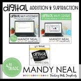 Fourth Grade Digital Math Addition and Subtraction Bundle