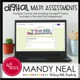 Fourth Grade Digital Math Assessment Bundle | Distance Learning