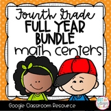 Fourth Grade DIGITAL Math Centers BUNDLE for GOOGLE Classroom