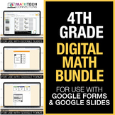 Fourth Grade Digital Math Games Bundle - for use with Goog
