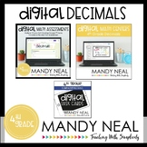 Fourth Grade Digital Math Decimal Bundle | Distance Learning