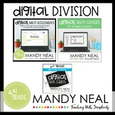 Fourth Grade Digital Math Division Bundle | Distance Learning
