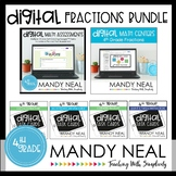Fourth Grade Digital Math Fractions Bundle | Distance Learning
