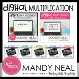 Fourth Grade Digital Math Multiplication Bundle | Distance